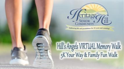 Hill's Angels Virtual 5k & 1 Mile Walk registration logo