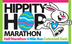 Hippity Hop Marathon/Half Marathon/4 Mile/Cottontail Dash/Virtual registration logo