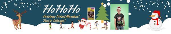 HoHoHo Christmas Virtual Marathon registration logo