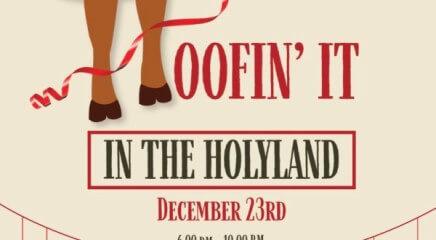 Hoofin' It In The Holyland registration logo