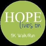 HOPE Lives On 5K Walk/Run registration logo