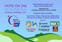 Hope on 246 5K and Kids Run registration logo