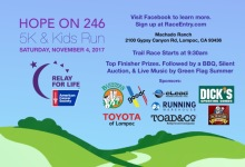 Hope on 246 5K and Kids Run registration logo