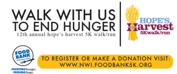 Hope's Harvest 5K Walk/Run registration logo