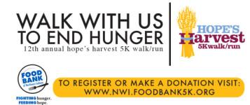 Hope's Harvest 5K Walk/Run registration logo
