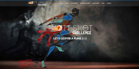 Hott Shot Running Challenge registration logo