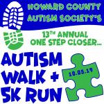 Howard County Autism Society Walk and Run registration logo
