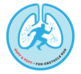 Huff and Puff Fun Obstacle Run registration logo