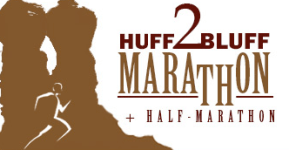 Huff to Bluff Marathon and Half Marathon registration logo