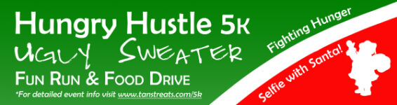 Hungry Hustle 5K Ugly Sweater Fun Run registration logo