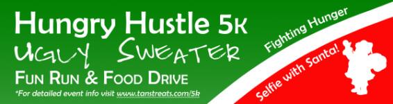 Hungry Hustle 5K Ugly Sweater Fun Run registration logo