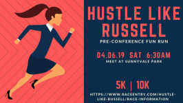 Hustle Like Russell registration logo