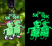 I Ain't Afraid 5K & 10K - Glow in the Dark Medals - Clearance from 2016 registration logo