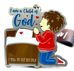I Am a Child of God 1M 5K 10K 13.1 26.2 registration logo