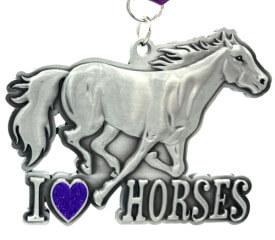 I Love Horses Day 1M 5K 10K 13.1 26.2 registration logo