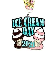 Ice Cream Day 1M 5K 10K 13.1 and 26.2 registration logo
