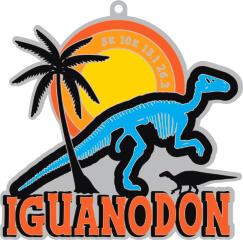 Iguanodon - Dinosaurs 1M 5K 10K 13.1 26.2 registration logo