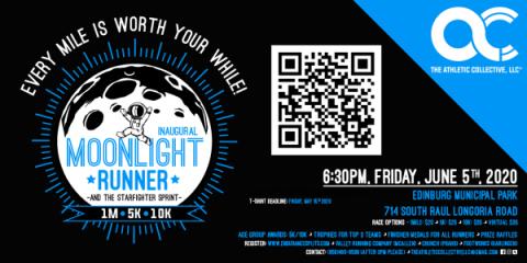 Inaugural Moonlight Runner and The Starfighter Sprint registration logo