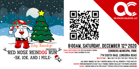 Inaugural Red Nose Reindog Run and The One Mile Mush registration logo