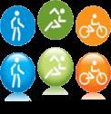 Innaugural Walk, Run, Bike Event registration logo