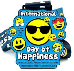 International Day of Happiness 1M 5K 10K 13.1 26.2