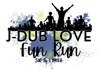 J-Dub Love Fun Run registration logo