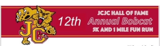 JCJC HALL of FAME 12th ANNUAL BOBCAT 5K & 1M Fun Run registration logo