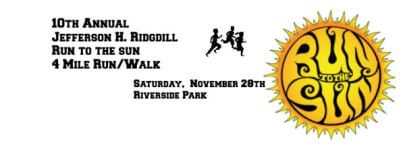 Jefferson H. Ridgdill Memorial Run to the Sun 4 Mile Run/Walk registration logo