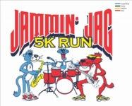 JOHNSON JAMMIN'JAG 5K registration logo