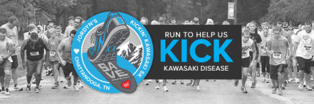 Jordyns Journey Kickin Kawasaki 5k Chattanooga, TN registration logo