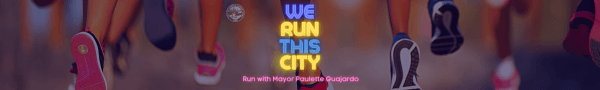 June 2021 Mayor Paulette Guajardo's We Run This City 5K registration logo