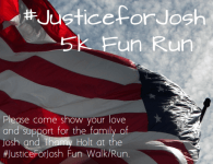 Justice for Josh 5K registration logo