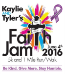 Kaylie and Tylers Faith Jam registration logo