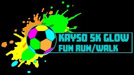KAYSO 5k Glow fun run/walk fundraiser  registration logo