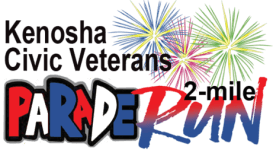 Kenosha Civics Veterans Parade 2- Mile Run registration logo