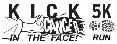 Kick Cancer in the Face 5K registration logo