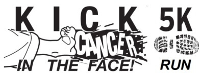 Kick Cancer in the Face 5K registration logo