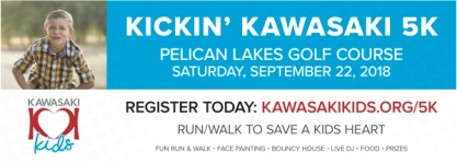 Kickin' Kawasaki 5K - Windsor, CO registration logo