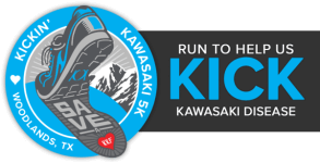 Kickin' Kawasaki 5K - Woodlands, TX registration logo