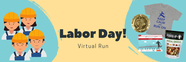 Labor Day Virtual Run registration logo