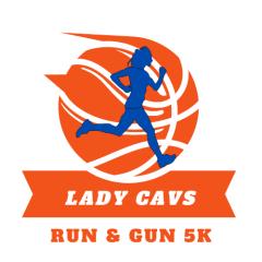 Lady Cavs Run & Gun 5K registration logo