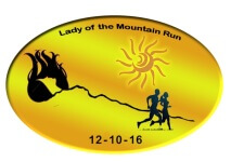 Lady of the Mountain Run registration logo