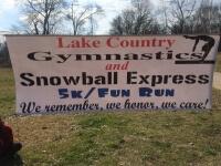 Lake Country Gymnastics 5K and Fun RUn registration logo