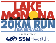 Lake Monona 20K Run and 5K registration logo