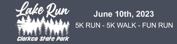 Lake Run 5K registration logo