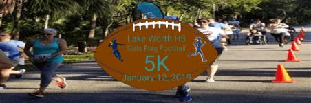 Lake Worth High School FF 5K registration logo