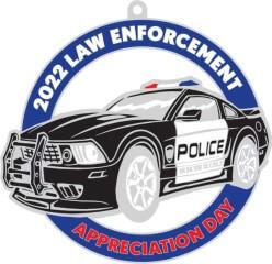 Law Enforcement Appreciation Day 1Mile 5K 10K 13.1 26.2 registration logo