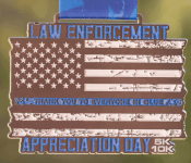 Law Enforcement Appreciation Day 5K & 10K registration logo