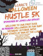 LCARC Halloween Hustle 5k registration logo