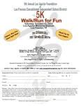 Leo Aguilar Foundation and LFCISD 5K Walk/Run for Fun registration logo